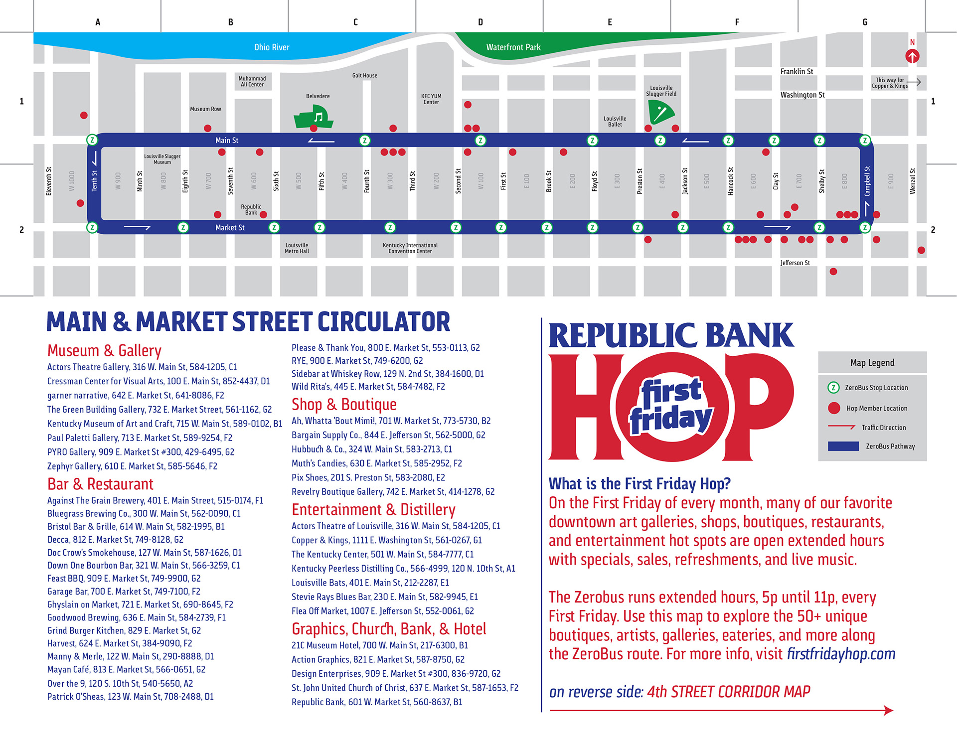 First Friday Hop Map