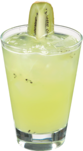 Kiwi Kamikaze Ingredients: 1.25 oz gin 3 oz Finest Call Lime Sour Mix 2 lime wedges 0.5 oz Kiwi Reàl 1 oz Agave Reàl