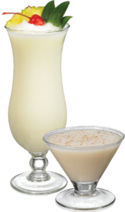 Lime in the Coconut Ingredients: 2 oz vanilla vodka 2 oz Passion Fruit Reàl 8 oz vanilla ice cream 2 oz half-and-half 0.5 oz Finest Call Lime Juice 1 oz Coco Reàl Cream of Coconut