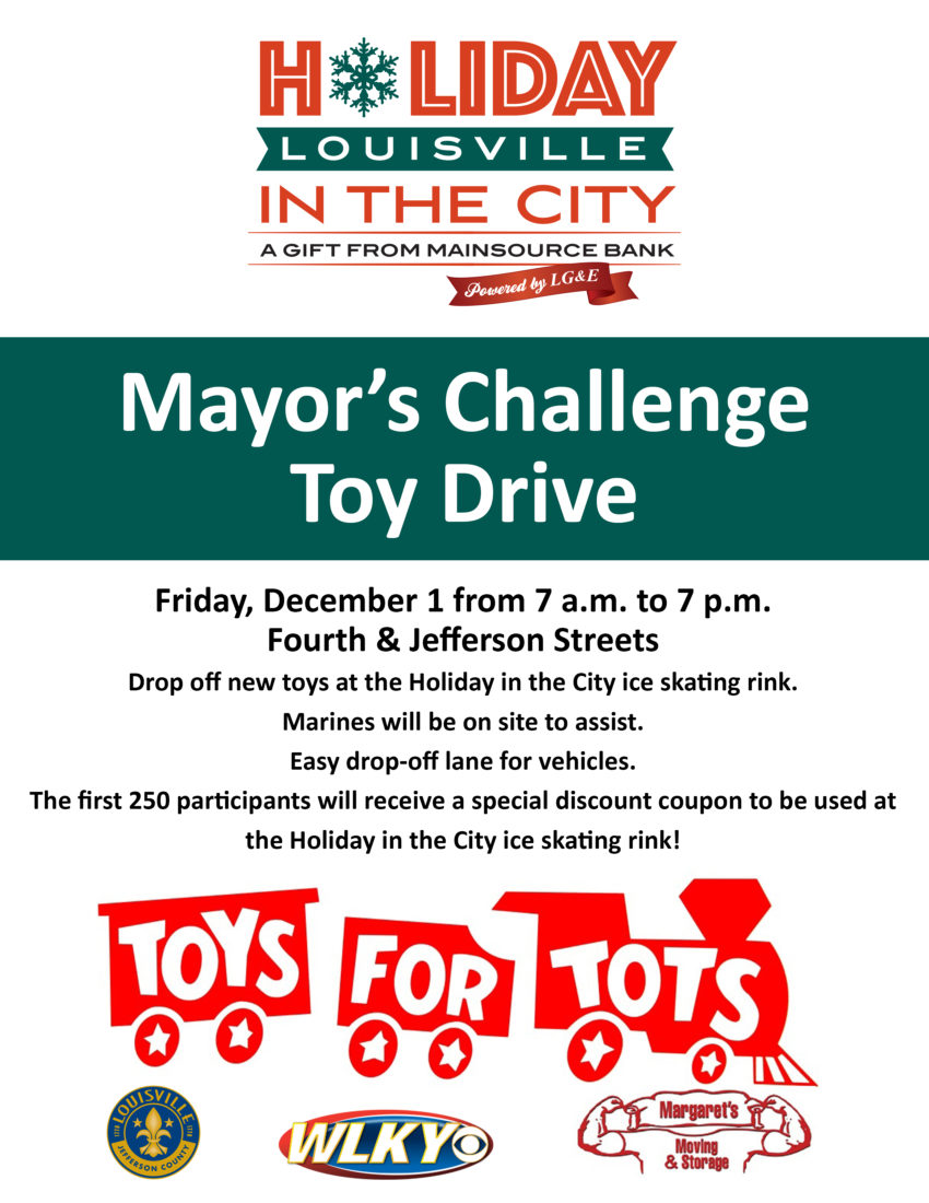 Mayor's Challenge Toys for Tots Drive – Friday, December 1