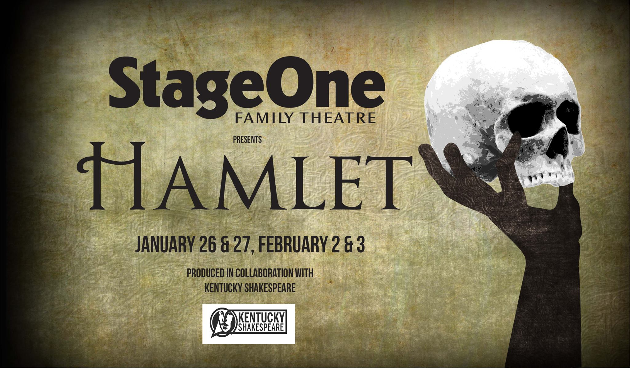 StageOne joins with Kentucky Shakespeare to present this contemporary take on William Shakespeare Hamlet