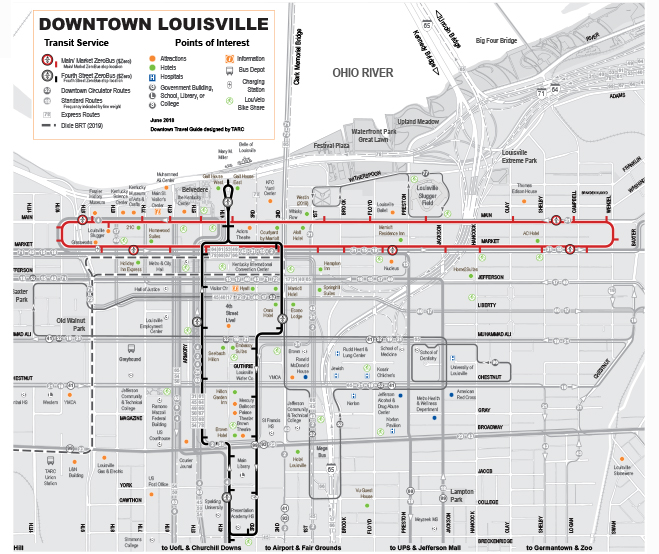 LouLift Schedule & Map (aka the Hop Trolley Downtown ...