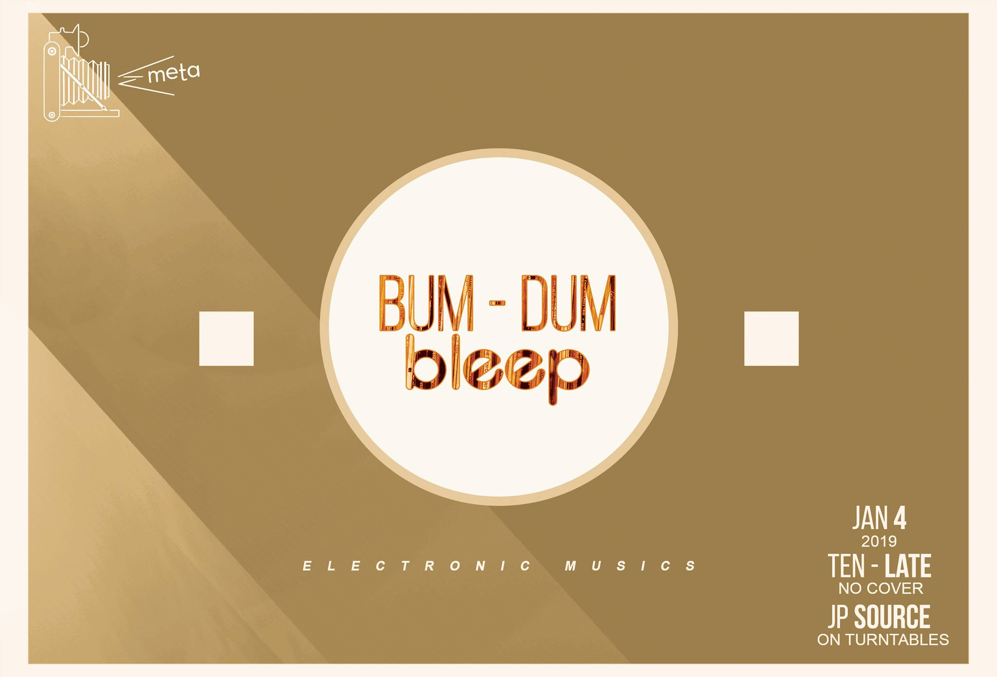BUM – DUM bleep – JP Source moves back to 1st Fridays at Meta! image
