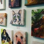 cat and dog paintings