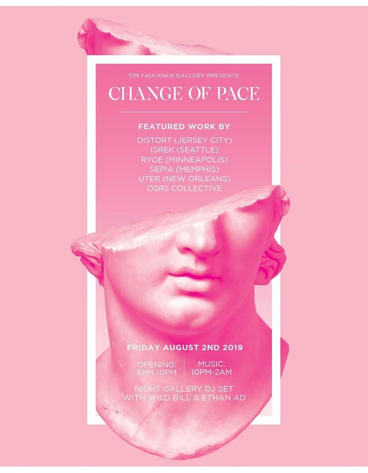 Change Of Pace First Friday August at Tim Faulkner Gallery