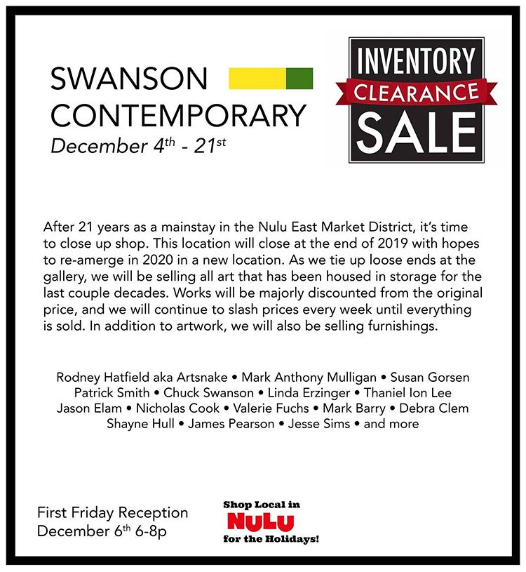 Inventory Clearance at Swanson Contemporary image